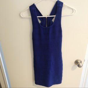 Forever 21 Blue Bodycon Mini Dress Small